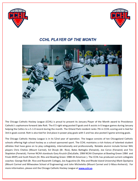 CCHL January Player of the Month