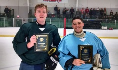 JV All Stars MVPs: Brad Eggert (Green Team) - Notre Dame & Enzo Senese (Blue Team) - Fox Valley Hawks
