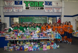 York Hockey Toys for Tots