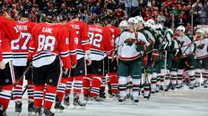 hockey handshake line