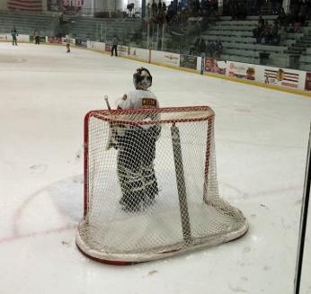 High School Goalie - NHL Regulation Net