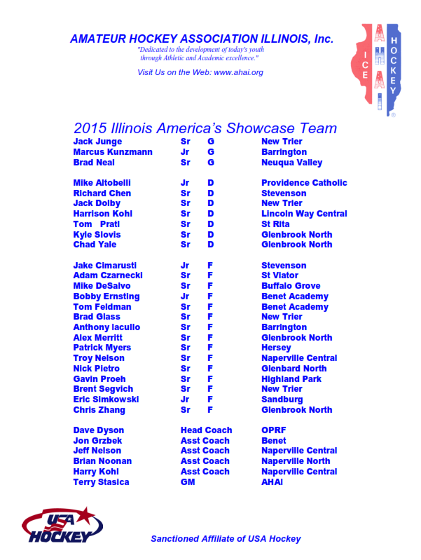 2015 Illinois Showcase Roster Final