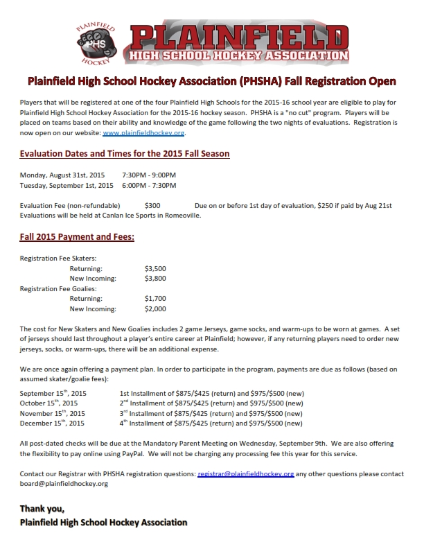PHSHA Evaluations fall registration 2015_001