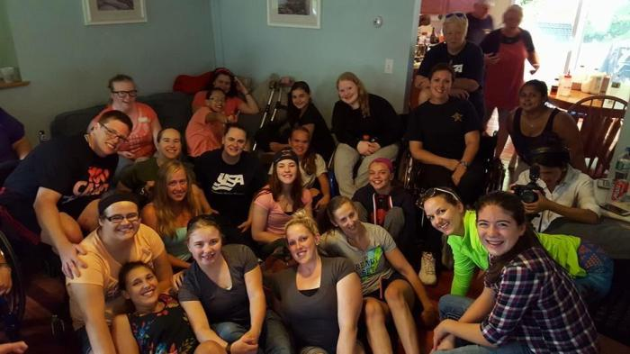 Spaghetti Dinner at the home of 2013 USA Hockey Disabled Athlete of the Year, Christy Gardner