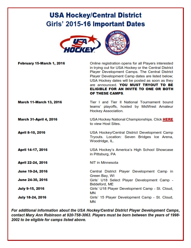 USAH.Central District 2016 Girls Important Dates updated December 2016_001