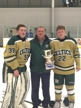 Head Coach Nick Iaciancio with his sons