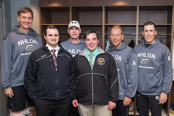 (From left to right) Shane Heyer, Max Osipov, Brad Kovachik, Eddie Belliveau, Brad Meier, Francis Charron