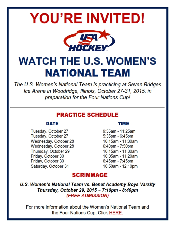 US Womens National Team practice schedule FINAL_001