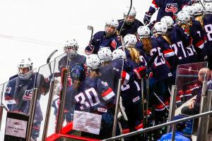 USA Hockey Women's National Festival 2015 in Lake Placid, USA U18 vs CAN U18, 8/20/15.  photo by Nancie Battaglia