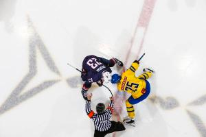 USA vs SWE, Jr Men in Lake Placid NY 8/6/15. photo by Nancie Battaglia