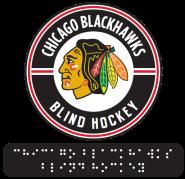 Blind hockey logo
