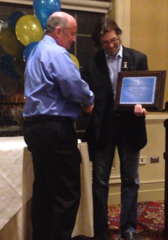 Chuck Fattore (left); AHAI President, John Dunne (right)