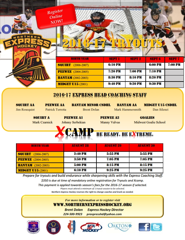 Express 2016-17 Tryout Flyer AHAI_001