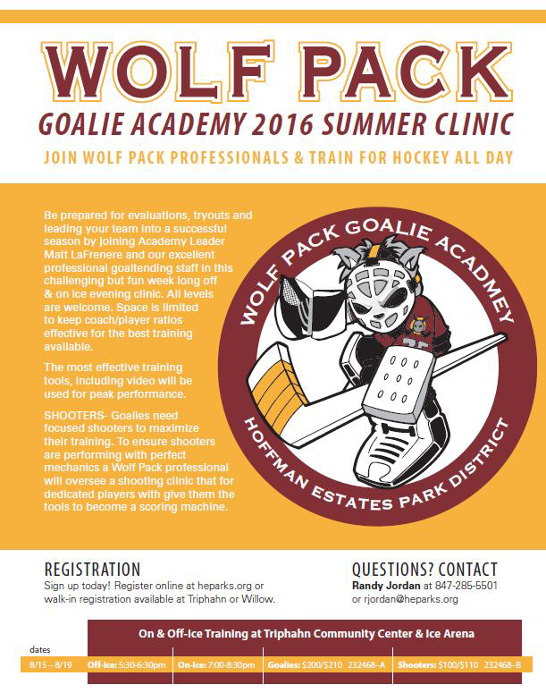 Goalie Clinic Flyer