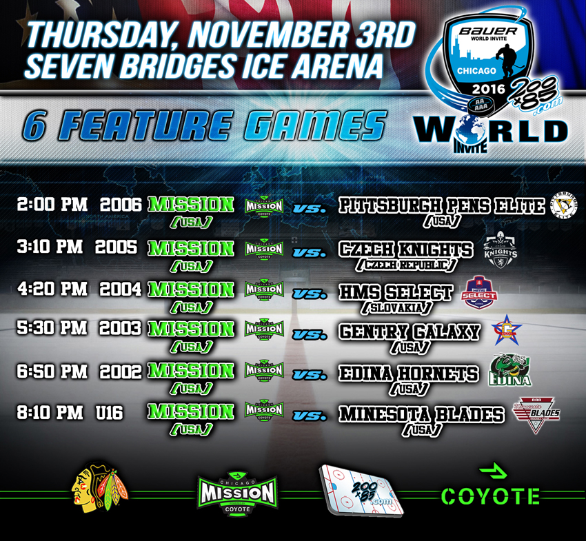 Bauer World Hockey Invite Opening Night Kicks Off on November 3rd