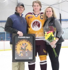 Parker with his parents, Sara Buchen-Ray & Andy Ray