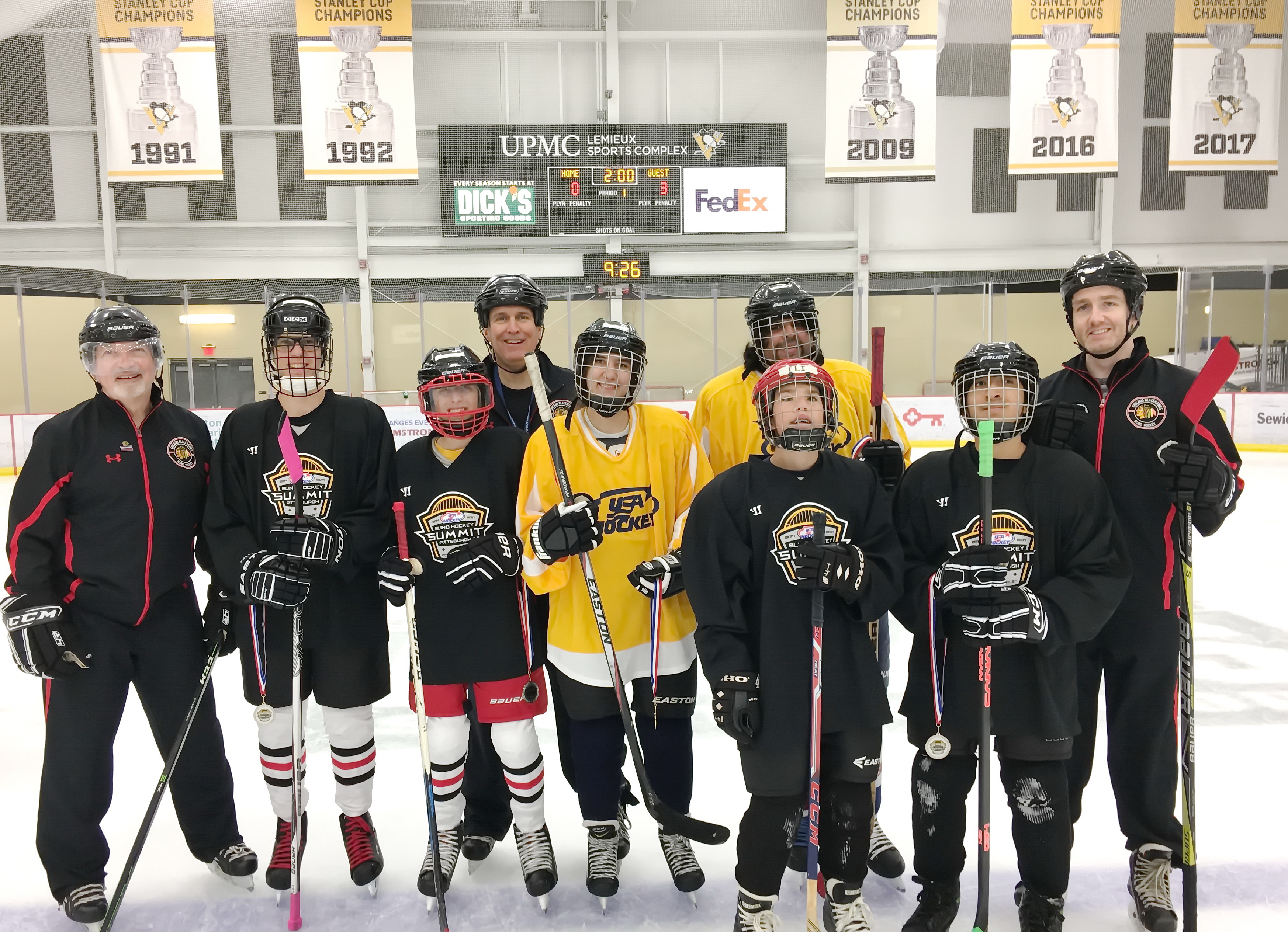 Chicago Blackhawks Blind Hockey Participates In The 2017 Usa Hockey