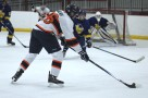 Forward #16 Will Belke lines up a shot in the October 28th win against Lake Forest Gold in the Madison WI tournament.