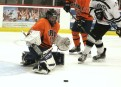Goalie Will DeCaro comes up with a big save in the September 10th game against Fenwick in the season opener tournament.