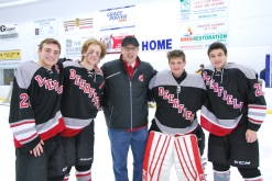 All-Star Game: (Left to Right) Christian DiBenedetto, Ethan Loewenstein, John Sclafini, Seth Miller, and Zach Goldman