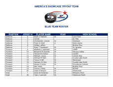 Blue Team Roster