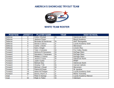 White Team Roster
