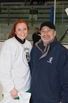 Madeline L. Babnik (New Trier Girls) - recipient of the 2018 Terry J. Stasica MVP Award with Jack Weinberg, AHAI High School Chairman.