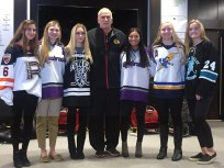 Girls with Coach Q