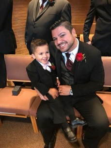 Oliver with his son