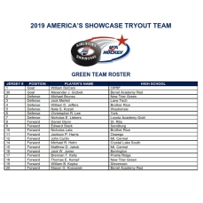 2019 SHOWCASE GREEN ROSTER