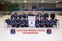 CSDHL Bantam Minor Champions - Blues
