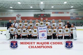 CSDHL Midget Major Champions - Cyclones