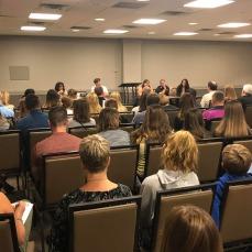 Panel (L-R): Anita Lichterman, AHAI Girls Director, Laurie Markowski, Michelle Lichterman, Jennifer Wilson, Amanda DiNella
